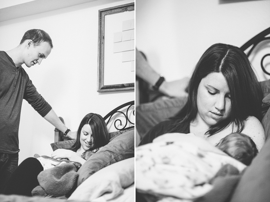 Ann Arbor Michigan Photojournalistic Newborn Photography Session Baby