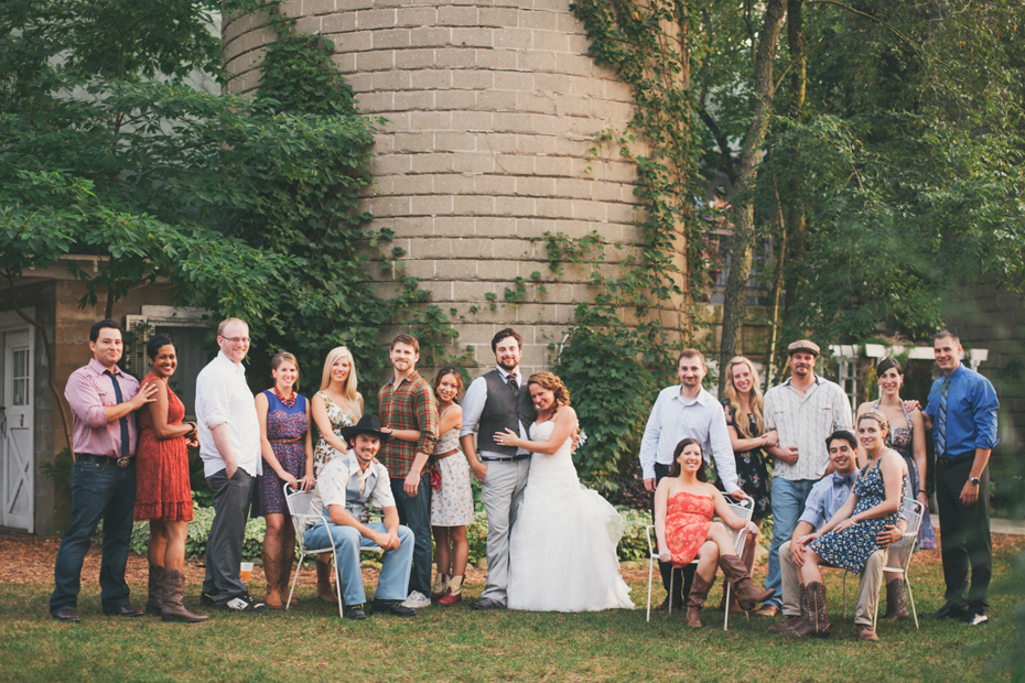 Barn Wedding Party Casual Clothing Photographed By Ann Arbor Michigan Photographer Heather Jowett At The Blue