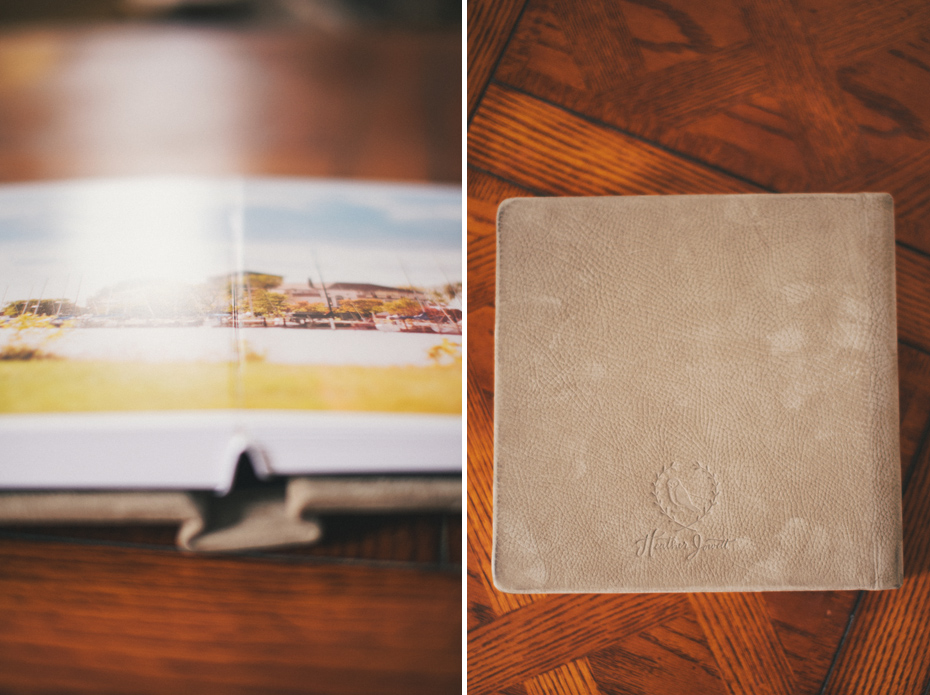 The pages lay flat on every wedding album designed by Ann Arbor Wedding photographer Heather Jowett.
