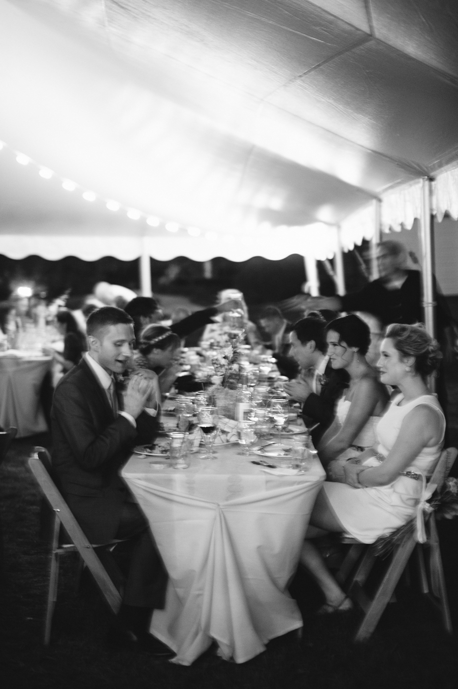 Slow shutter black and white photography at a Michigan wedding.
