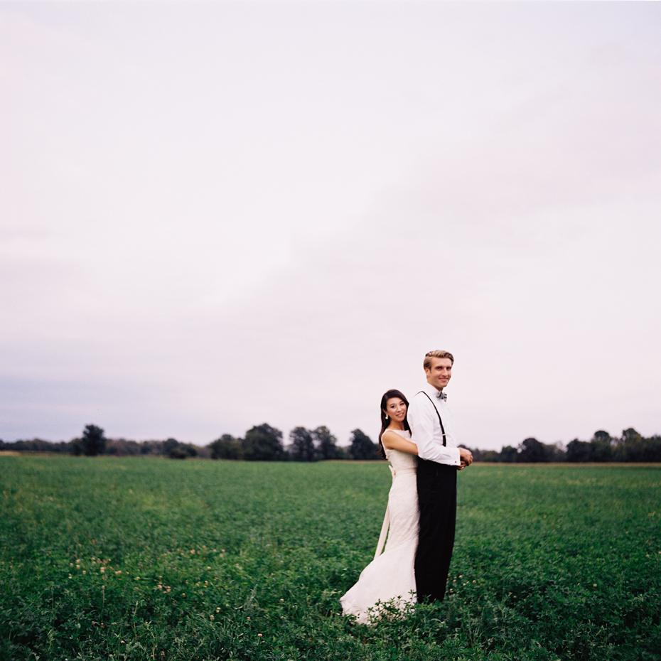 Day after wedding portraits shot on film, by Ann Arbor wedding photographer Heather Jowett.