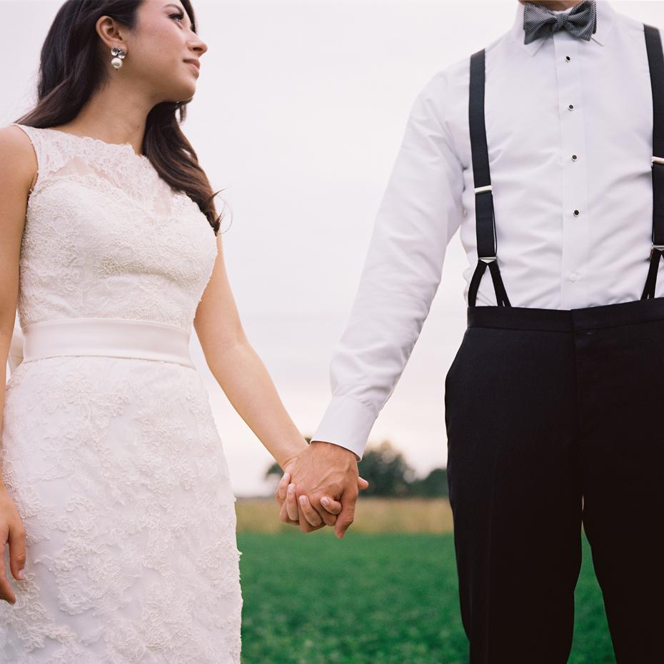 Day after wedding portraits, by Ann Arbor wedding photographer Heather Jowett.