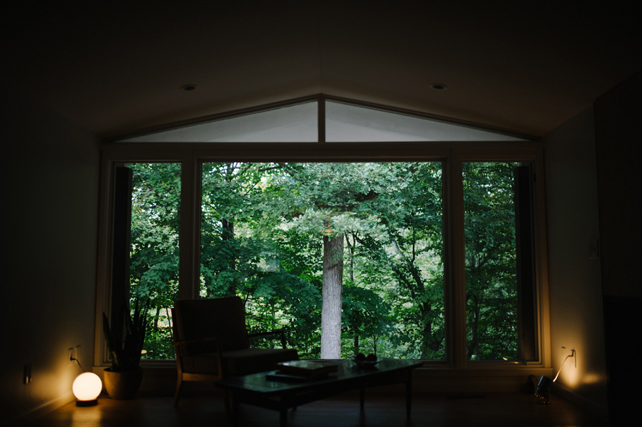 Interior of a mid-century home in Metro Detroit during a documentary family portrait session in Ferndale photographed by Ann Arbor Wedding Photographer, Heather Jowett.