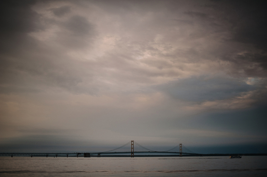 Photograph of the Mackinac Bridge by Ann Arbor Wedding Photographer Heather Jowett.