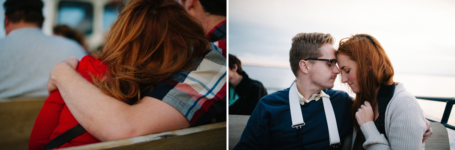 Photograph from the ferry on the way to Mackinac Island by Ann Arbor Wedding Photographer Heather Jowett.