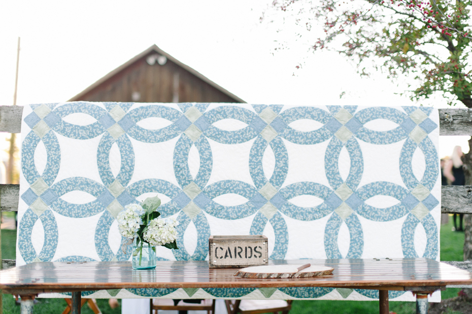 Wedding details at Misty Farms by photojournalistic Michigan wedding photographer Heather Jowett.