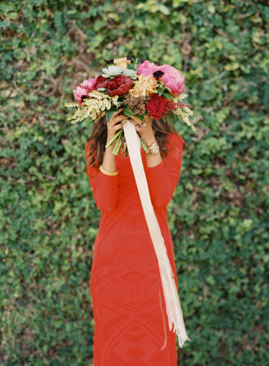 Amazing bouquet with succulents at the Sundy house by wedding photographer Heather Jowett.
