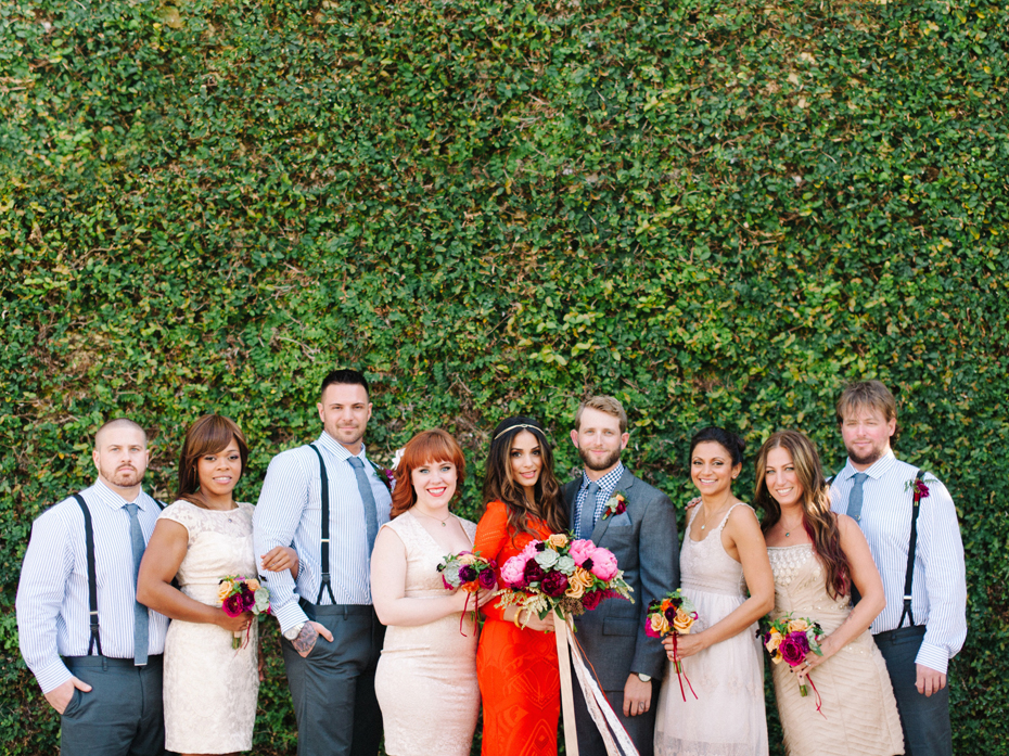 Wedding party at the Sundy house in southern florida by wedding photographer Heather Jowett.