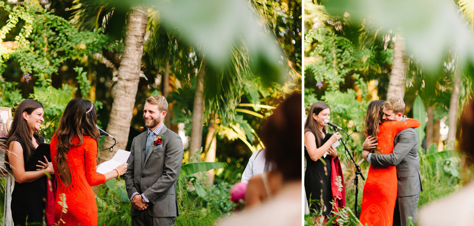 A wedding ceremony at the Sundy house.