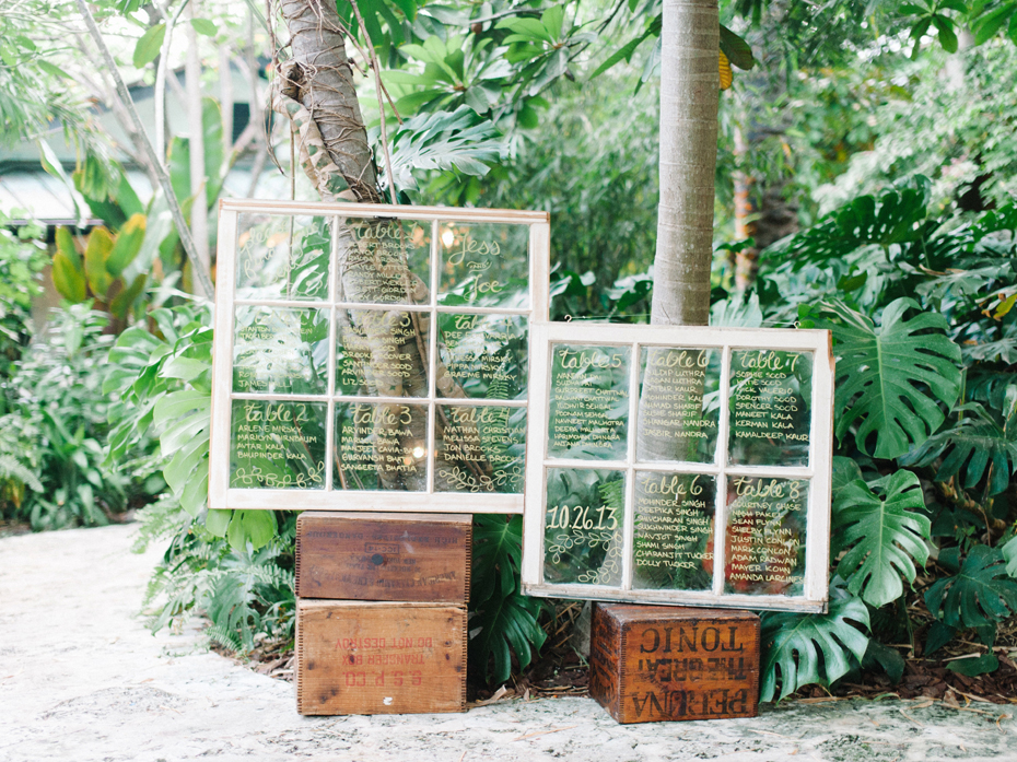 Bohemian wedding details at the Sundy House in Southern Florida by wedding photographer Heather Jowett.