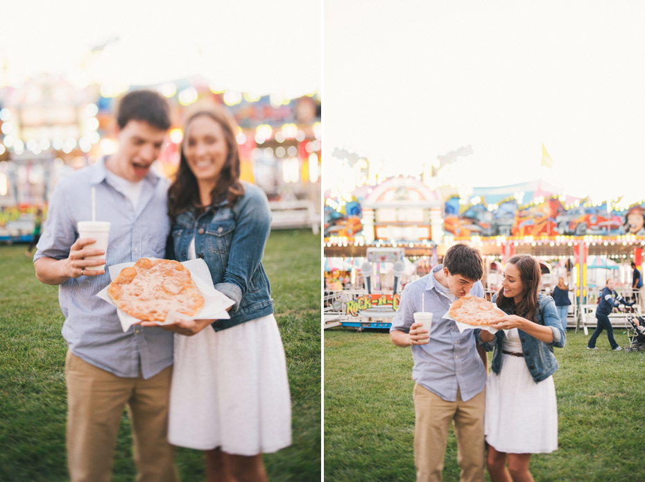 Time to chow down on an elephant ear at the Saint Clair County 4h fair by Michigan wedding photographer Heather Jowett.