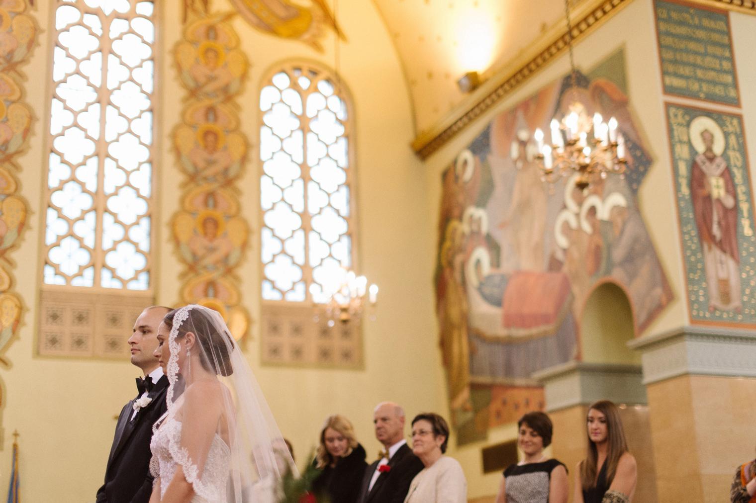 Ukrainian Orthodox Wedding Ceremony in Hamtramck Michigan by photographer Heather Jowett.
