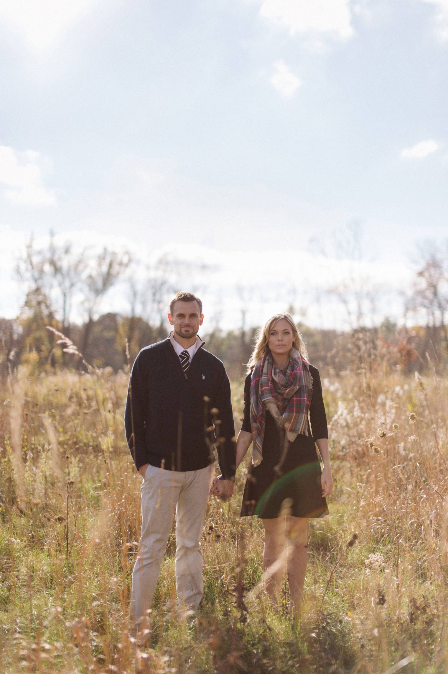 Fall couples photography session at the Ann Arbor Botanical Gardens.