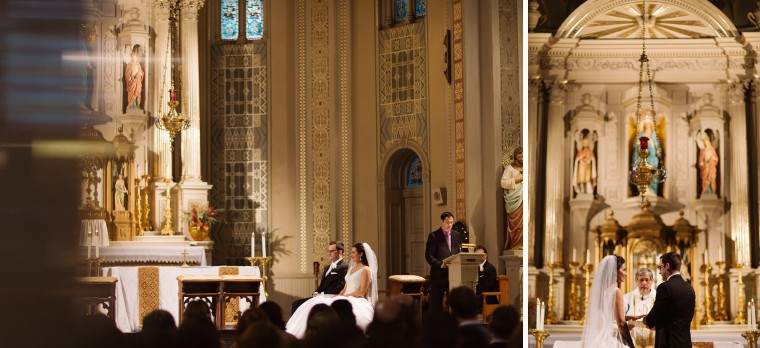 A wedding ceremony at Old St Mary's in Greektown