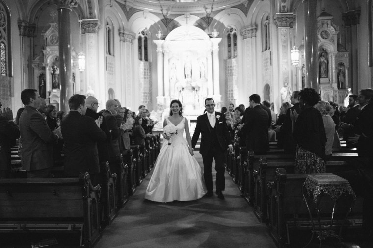 wedding ceremony at Old St Mary's in Detroit