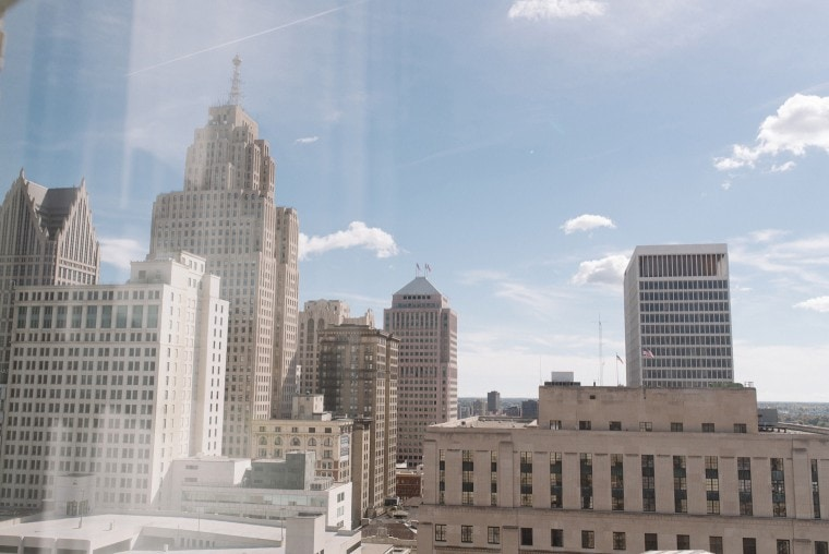 A view of the skyline from the Westin Book Cadillac