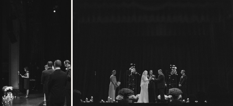 A wedding ceremony at the Gem Theater in Detroit