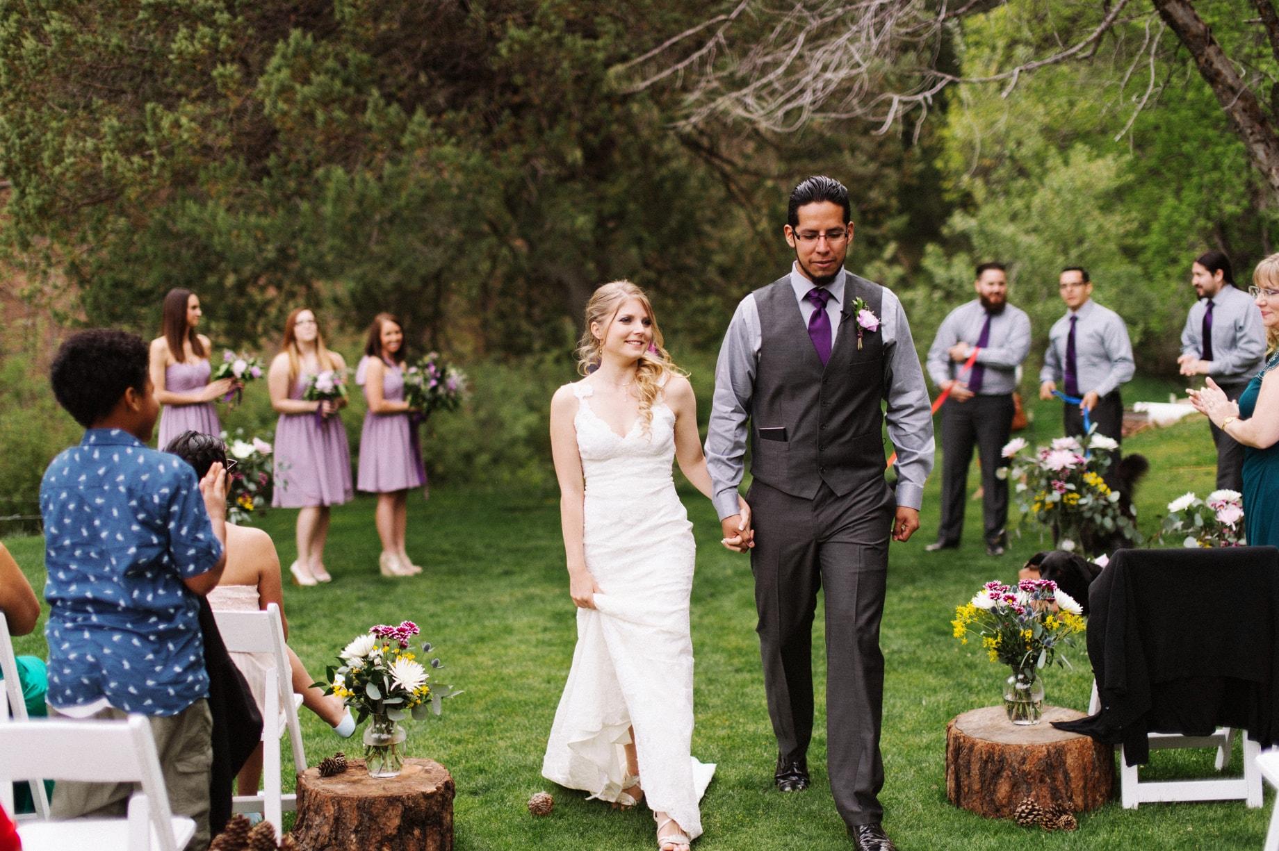 outdoor wedding ceremony at tonto creek camp