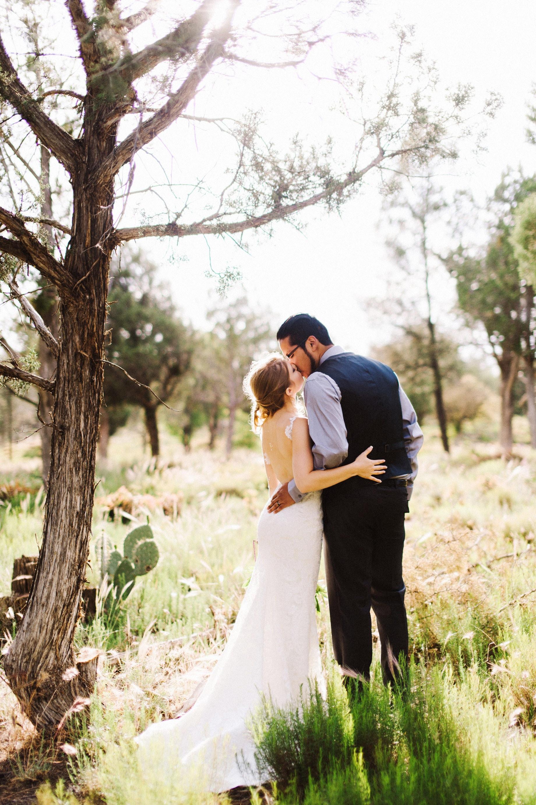 bride in low back dress