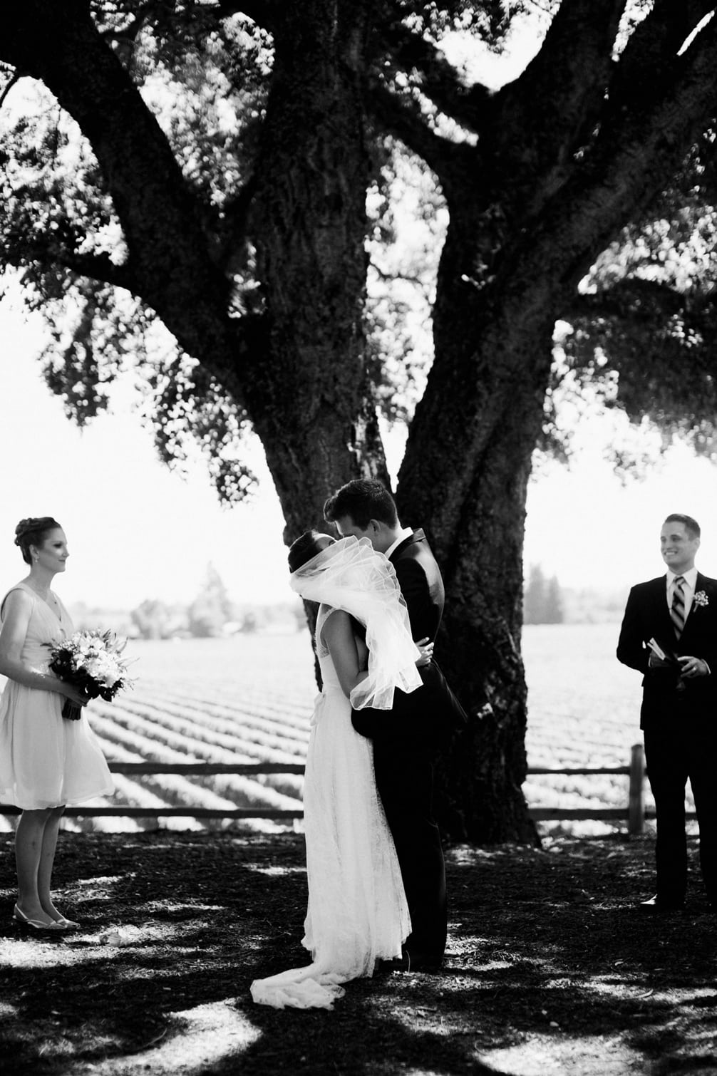 Tiffany and Drew's wedding at the Healdsburg Country Gardens