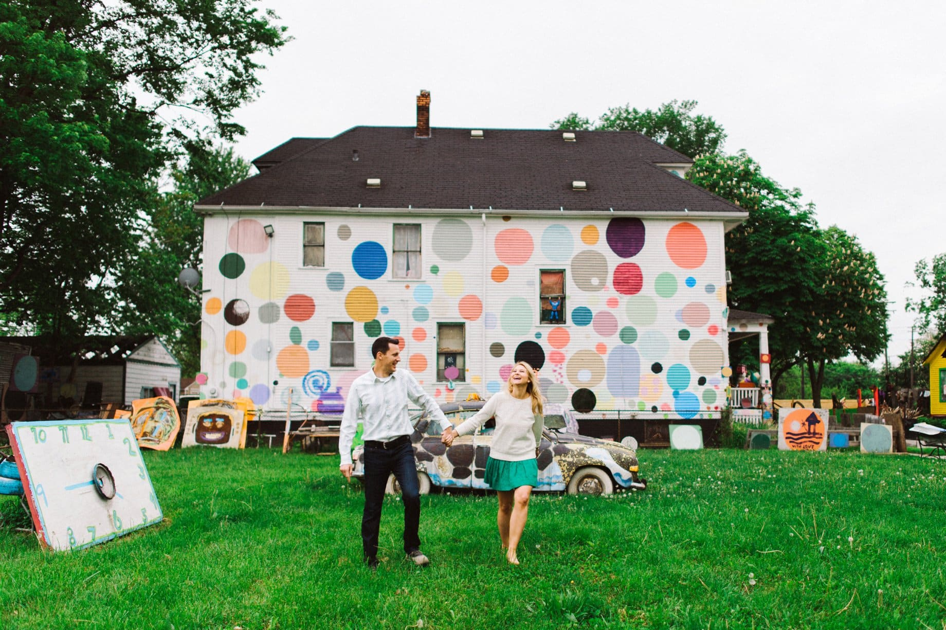 engagement session at the heidelberg project