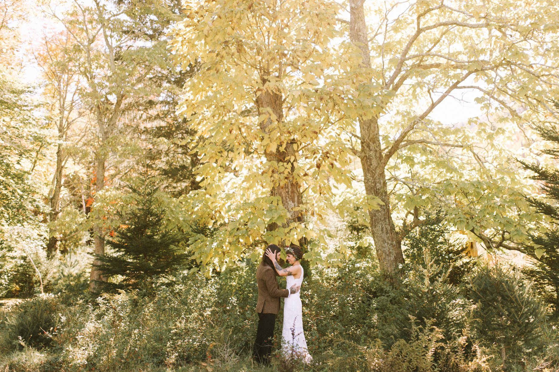 fall wedding in catskill mountains