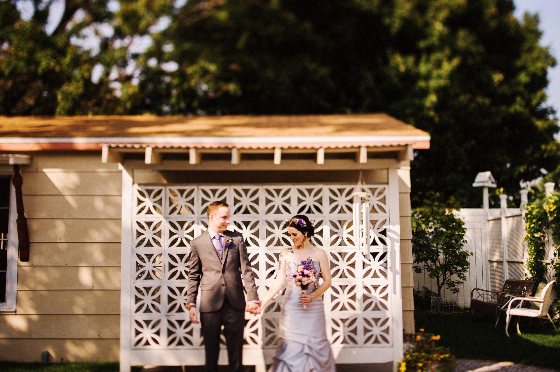lavendar wedding gown