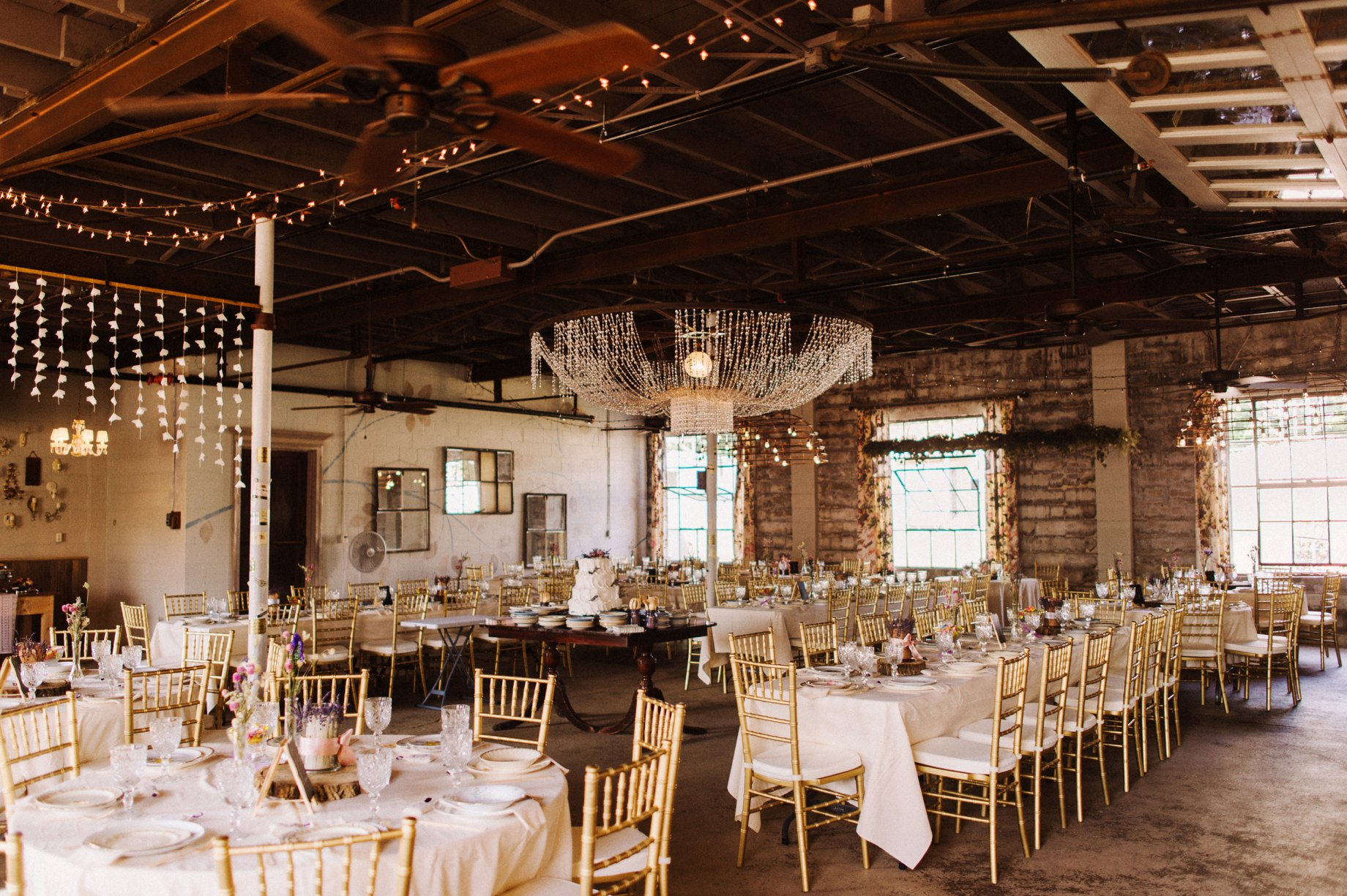 gold and lavendar wedding