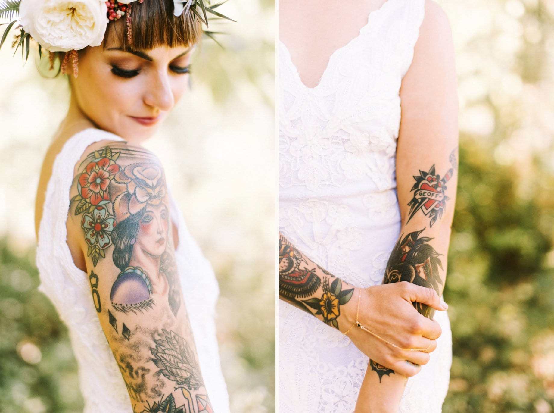 heavily tattooed bride