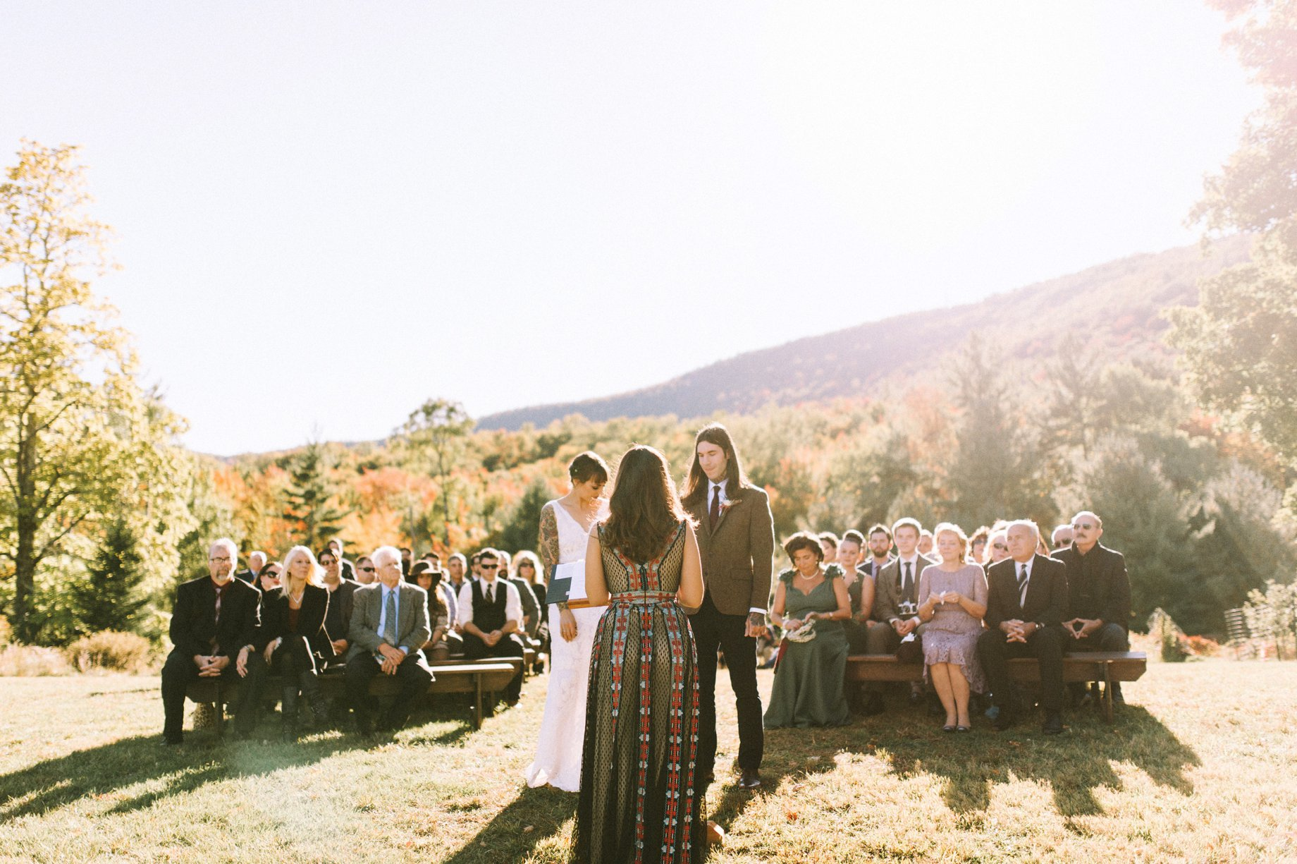 fall catskills wedding