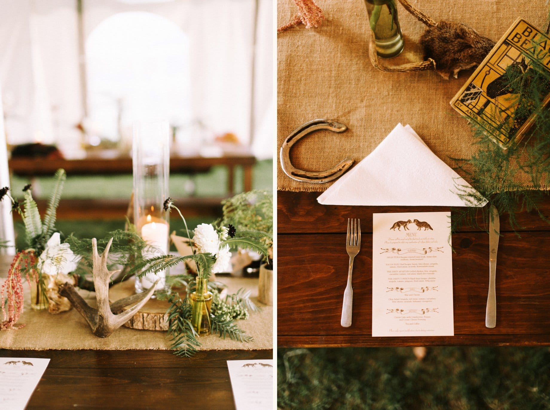 equestrian wedding decor