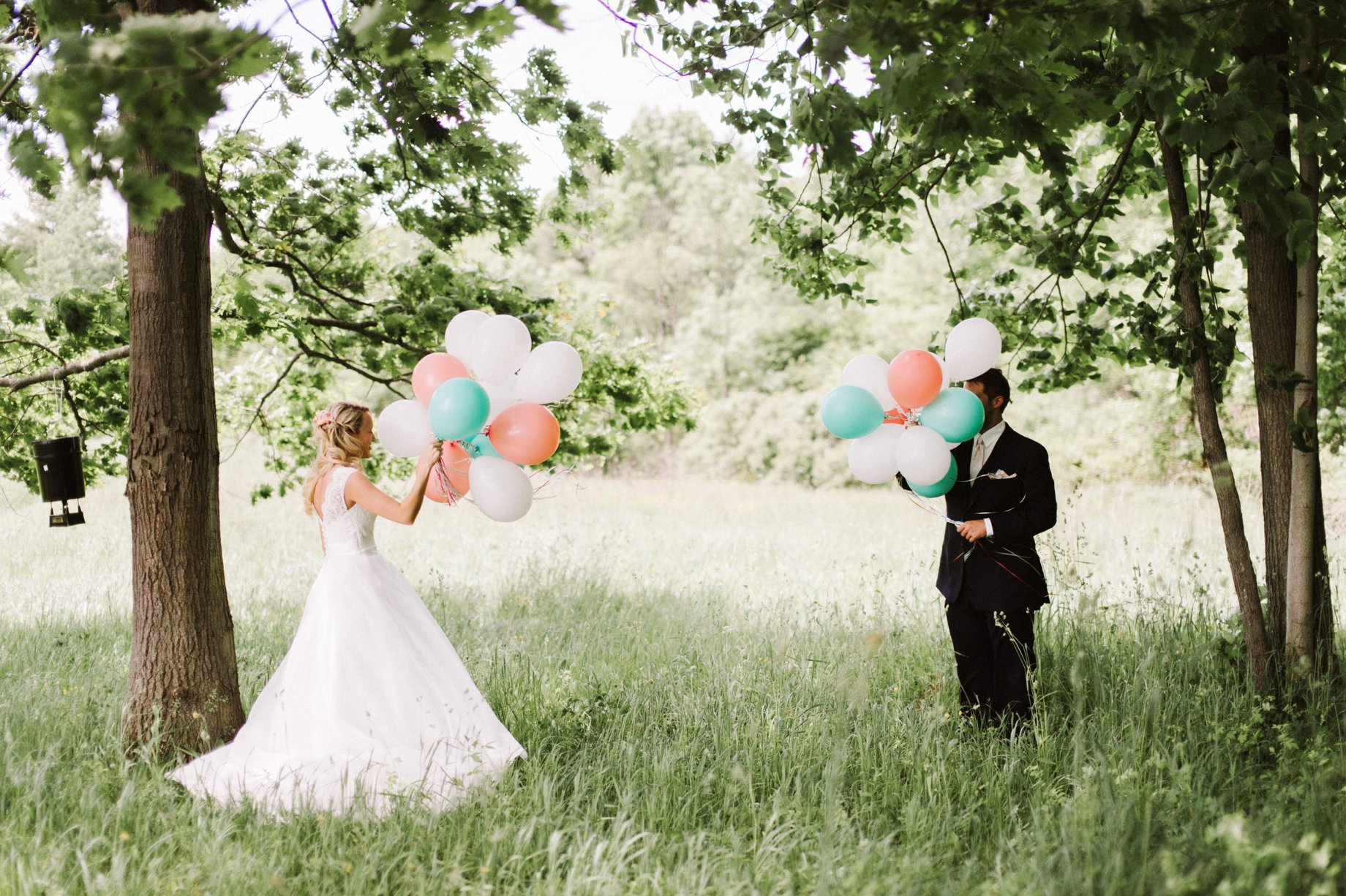 first look using balloons