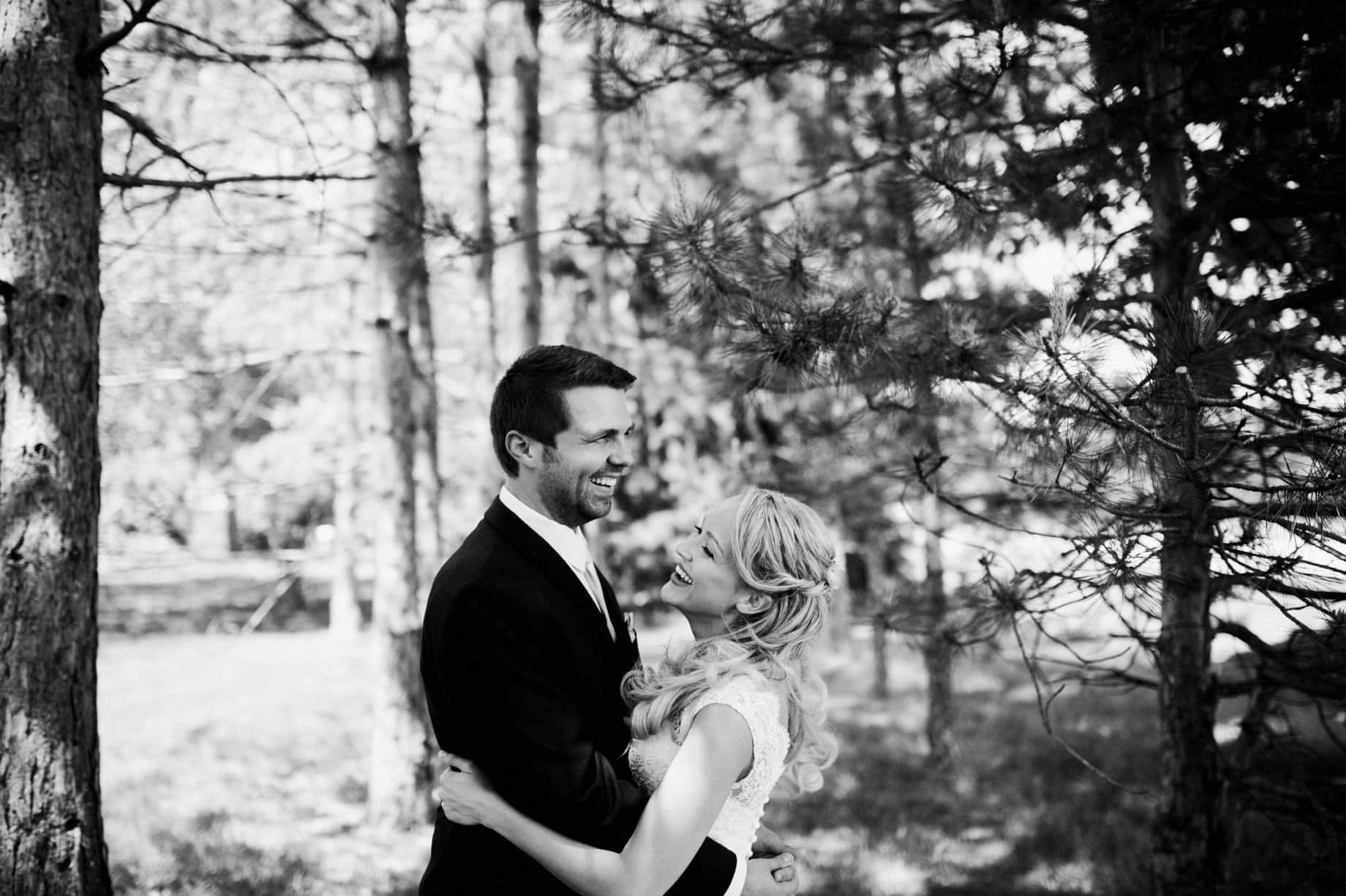 michigan pine tree wedding