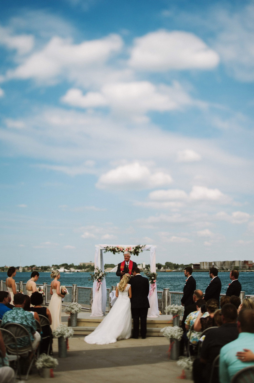 wedding ceremony on saint clair river