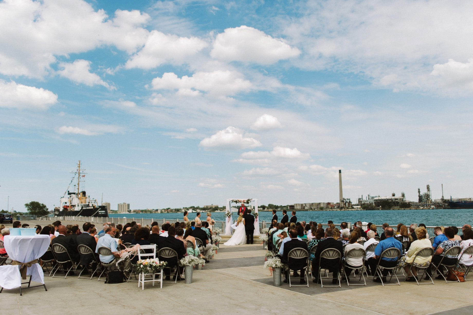 outdoor waterfront ceremony port huron