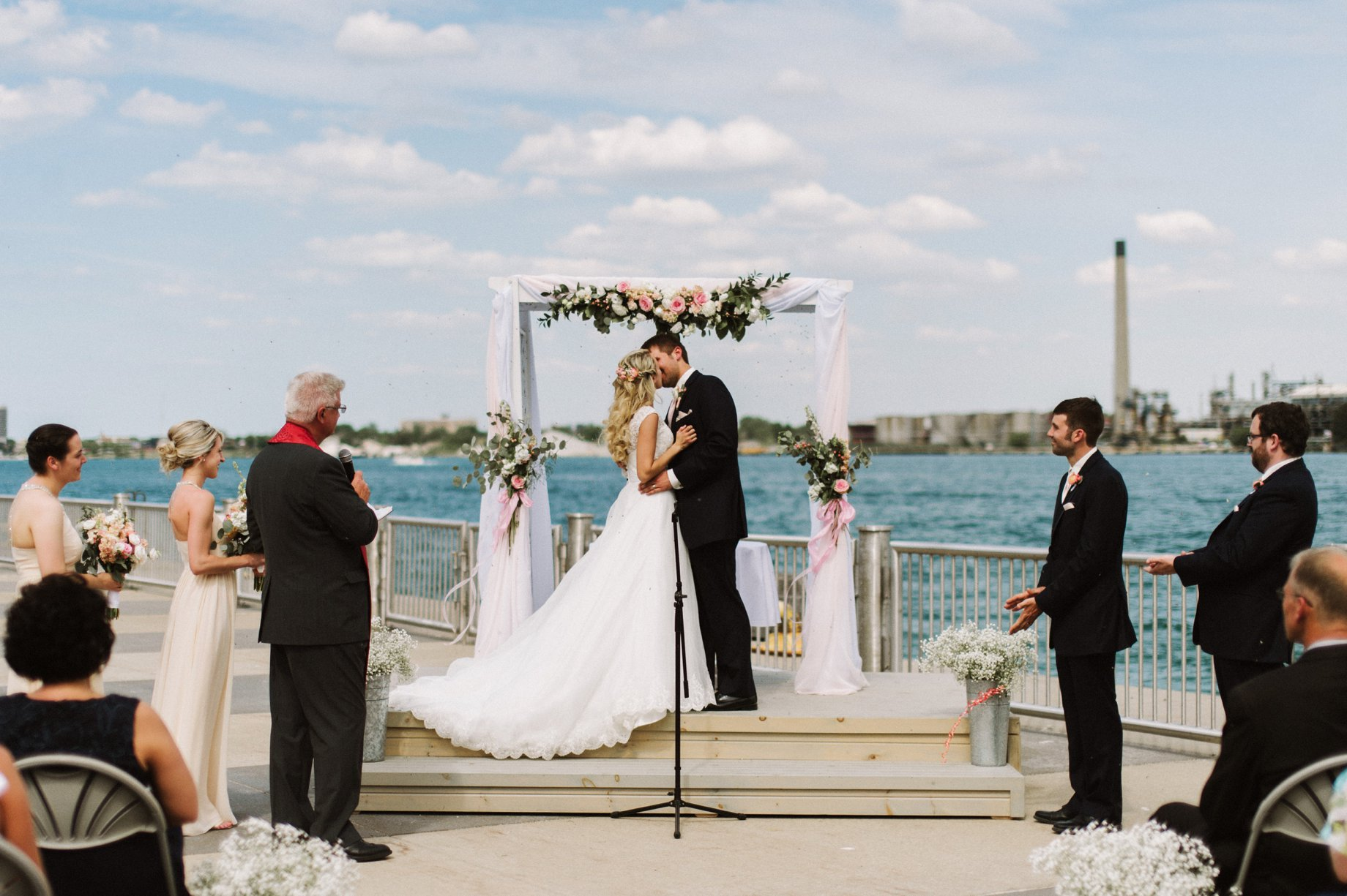 wedding ceremony at the bean dock