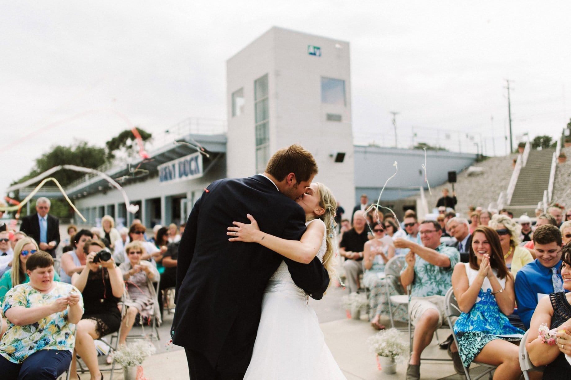 streamers wedding exit