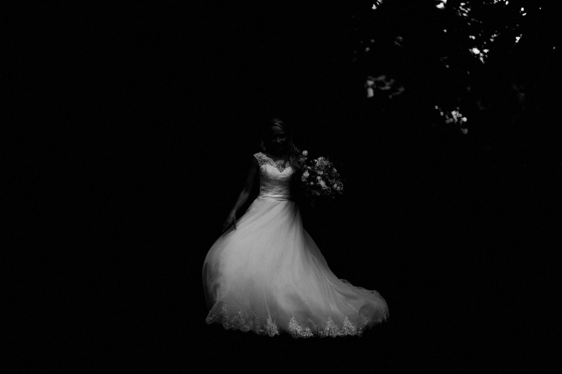 abstract wedding dress photograph