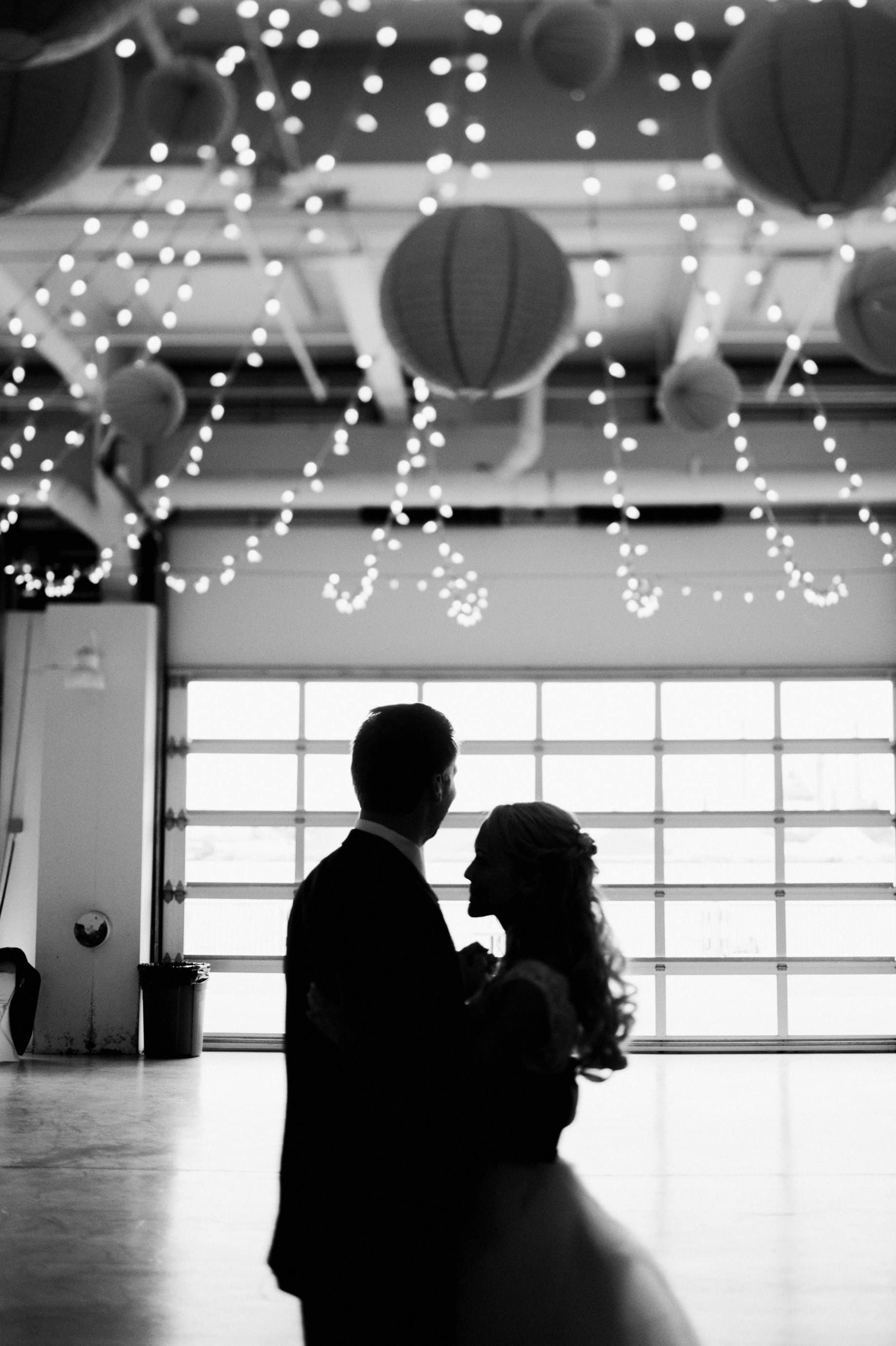 black and white first dance photography