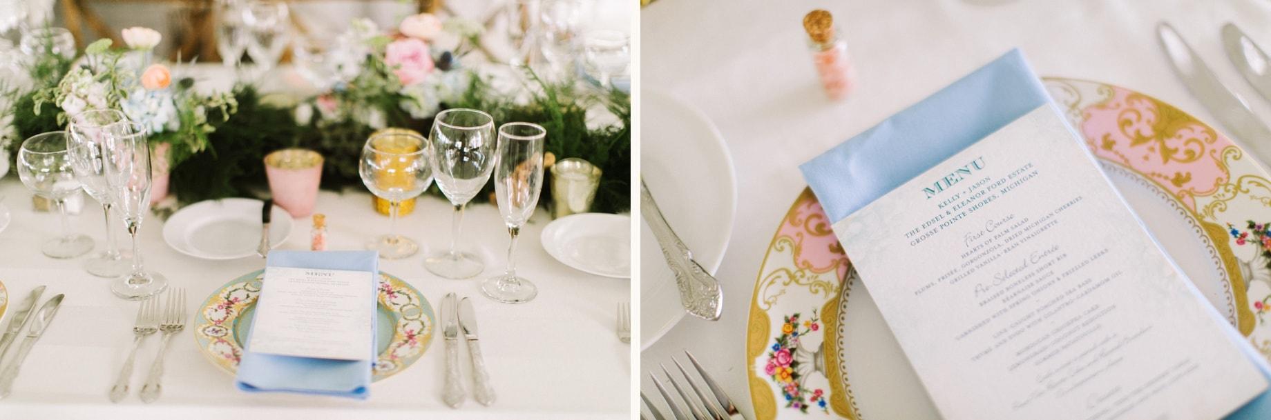 classic wedding details