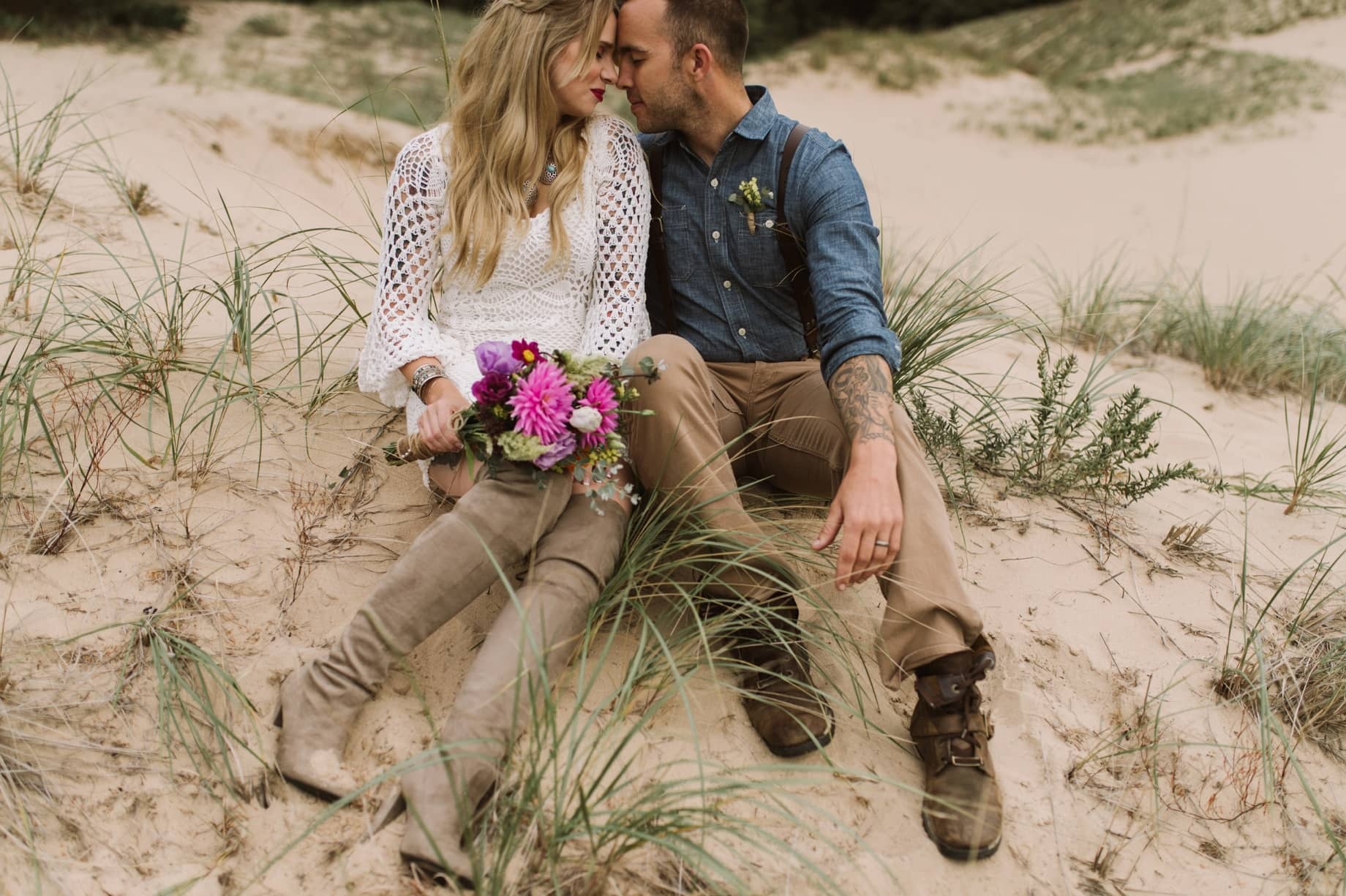 mcihigan sand dunes wedding