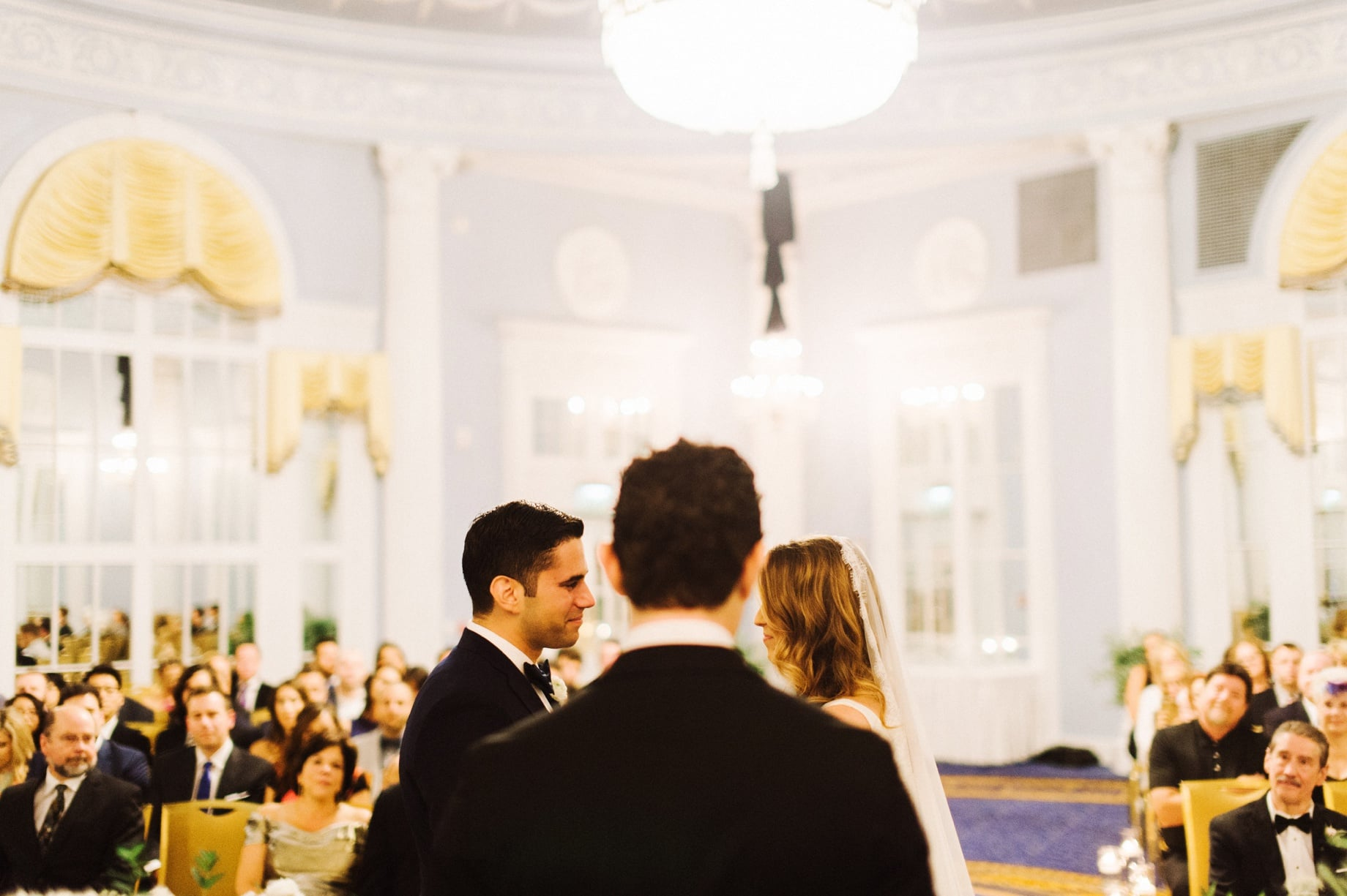 wedding ceremony in gerald ford ballroom