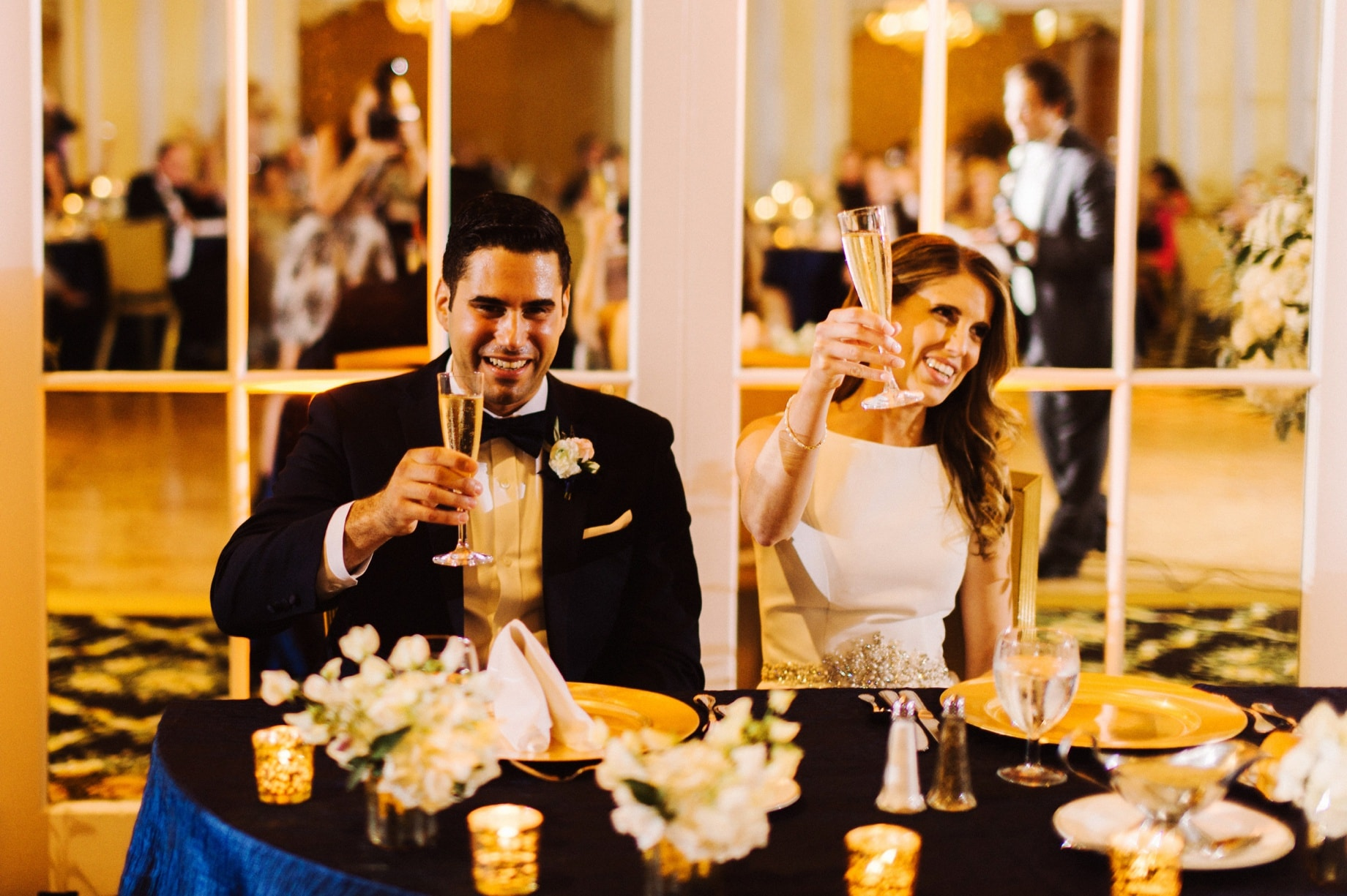 candid wedding toasts