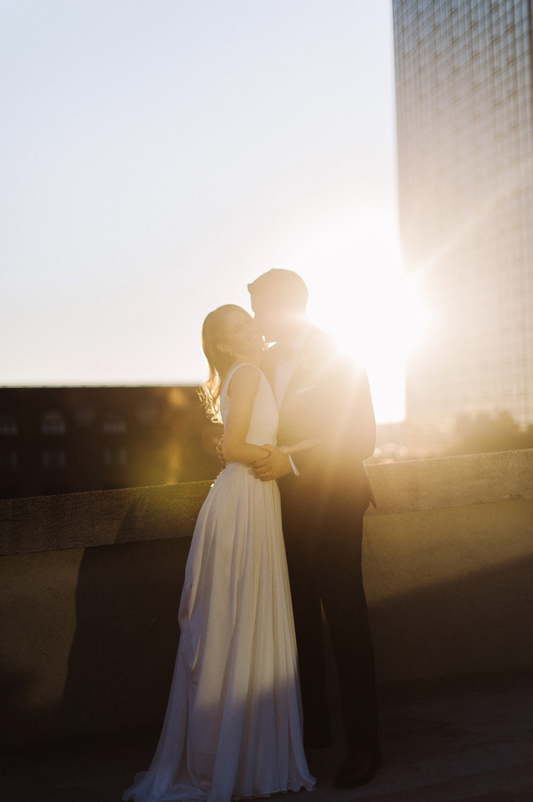 sunset wedding portraits