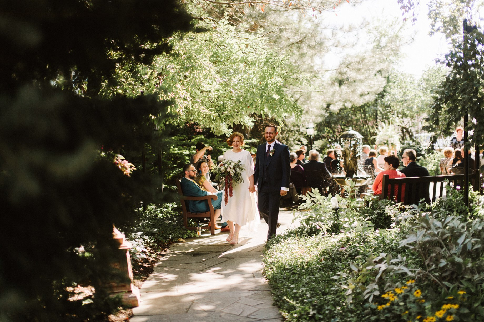 detroit garden wedding for artists