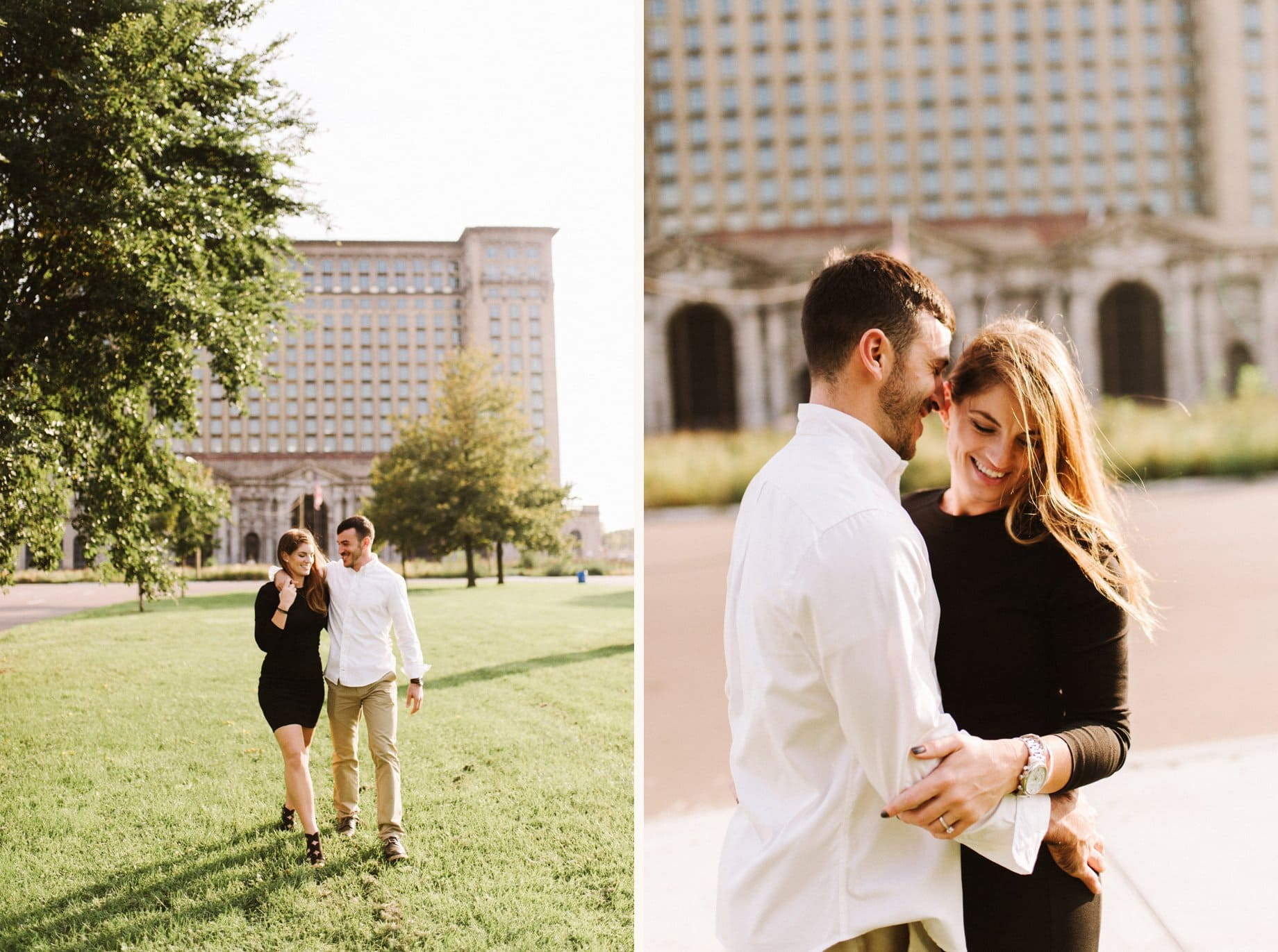candid engagement photography in detroit