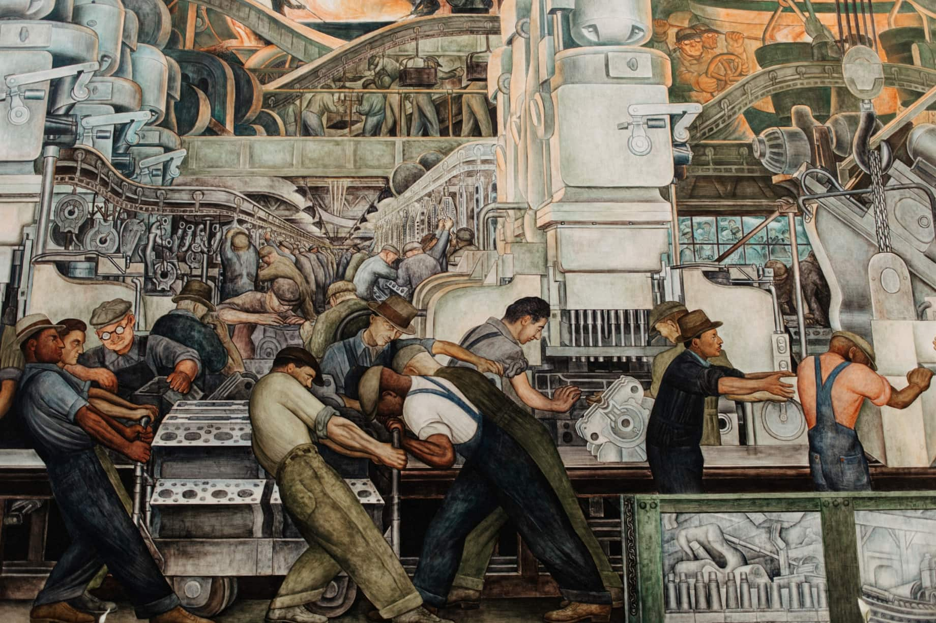 diego rivera court at the DIA