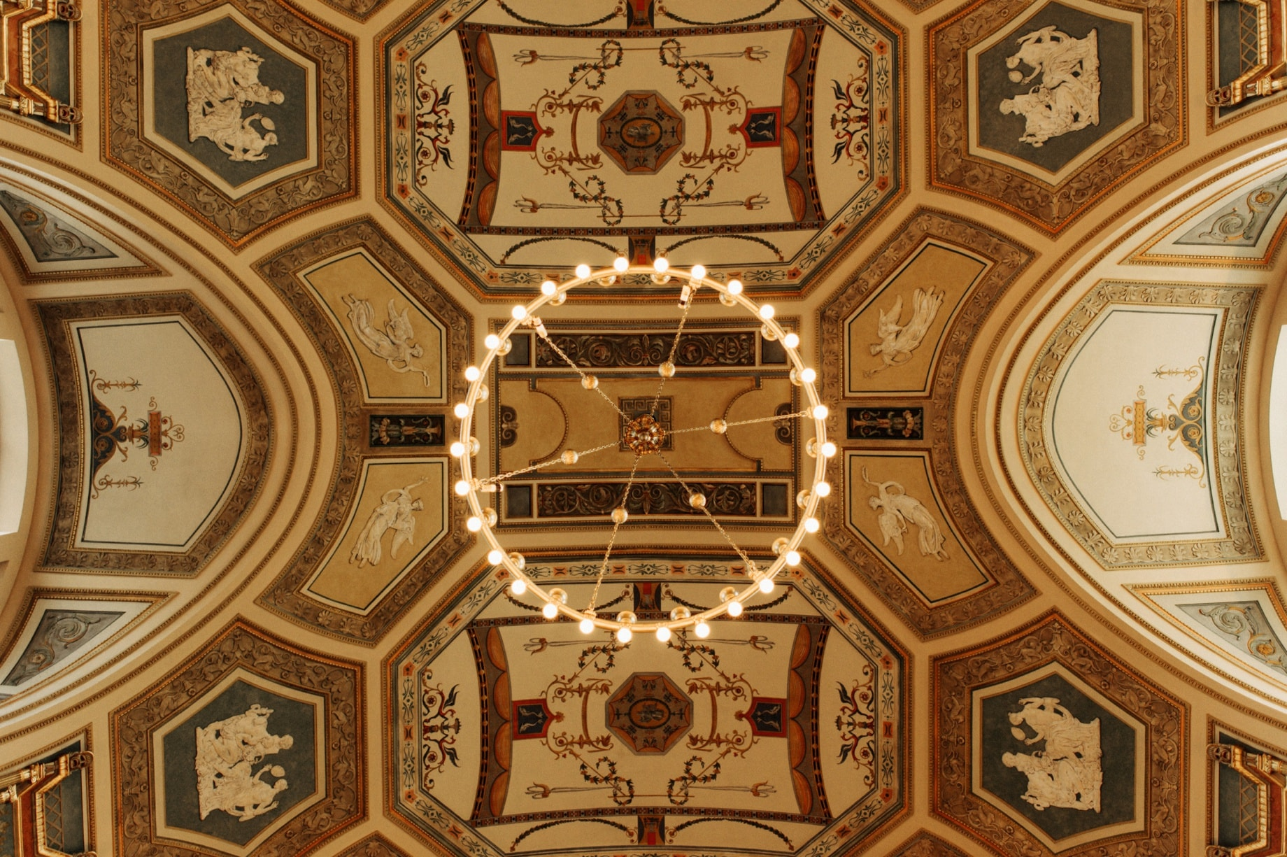 ceiling of the grand hall at the DIA