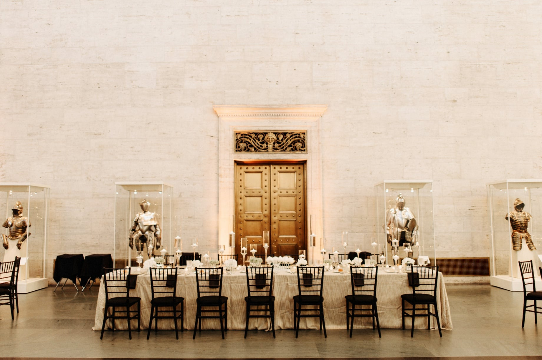 head table at detroit institute of arts wedding