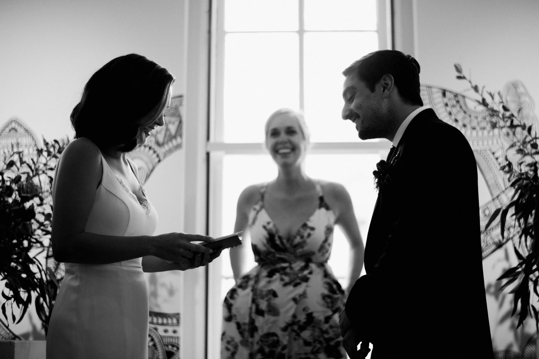 laughter filled wedding ceremony